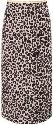 N°21 N.21 Leopard Printed Midi Skirt