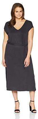 Lucky Brand Women's Size Plus Button Sleeve Knit Dress
