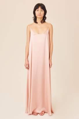 cfcc983e1b735 Mansur Gavriel Silk Charmeuse Flowy Slip Dress - Blush