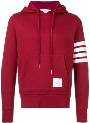 Thom Browne engineered 4 bar pullover hoodie red