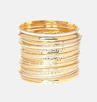 Avenue Glitter Texture Bangle Set