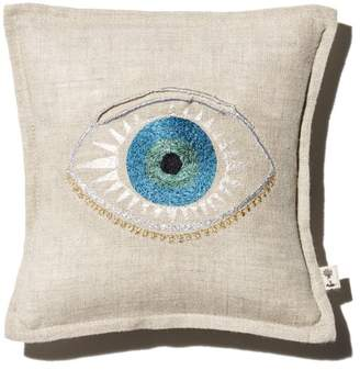 """Coral & Tusk Evil Eye Embroidered Pocket Decorative Pillow, 7"""" x 7"""""""