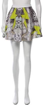 Philipp Plein Printed A-Line Skirt