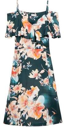 Paul & Joe Cold-Shoulder Floral-Print Satin-Twill Dress