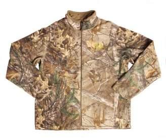 Mossy Oak Men's Camo Fleece Full Zip Jacket, Xtra