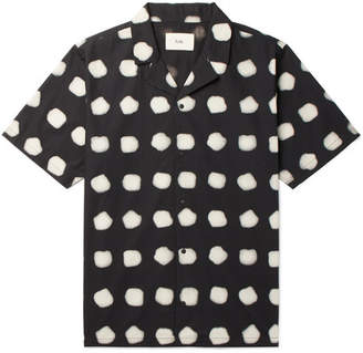 Folk Camp-Collar Printed Cotton Shirt