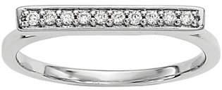 Dainty Designs 14K 1/10 cttw Diamond Bar Ring