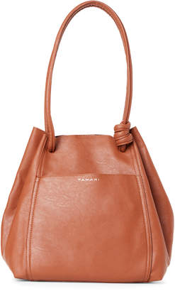 Tahari Cognac Montreal Drawstring Shoulder Bag