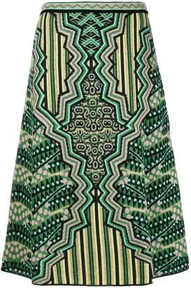 M Missoni A-line midi skirt