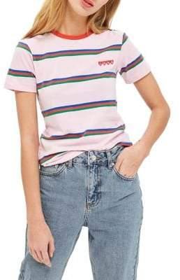 Topshop TALL Love Stripe T-Shirt