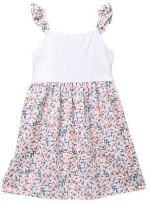 Harper Canyon Printed Schiffley Dress (Big Girls)