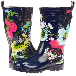 Forever Young Women's All Over Big Floral Printed Rain Boot