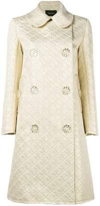 Simone Rocha floral button jacquard coat