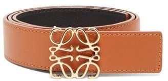 Loewe Anagram Logo Leather Belt - Womens - Tan