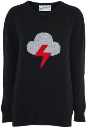 Alberta Ferretti bolt Black Wool And Cashmere Pullover.