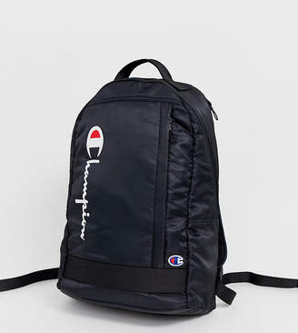 Champion zip up backpack in black