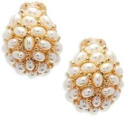 Kenneth Jay Lane Pearl Clip-On Earrings