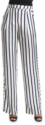 NICHOLAS Dual-Striped Wide-Leg Pants, Dual Stripe $495 thestylecure.com