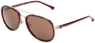 Dries Van Noten 58 Mm Bordeaux Aviator Sunglasses