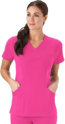 Jockey Women's Scrubs Modern Mesh V-Neck Top