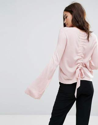 Miss Selfridge Ruched Back Sweater