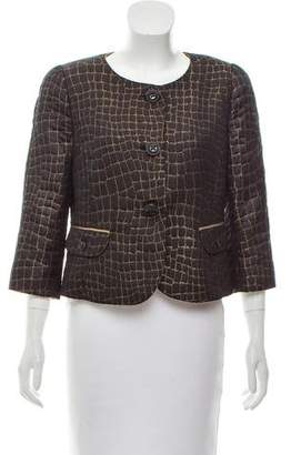 Armani Collezioni Structured Metallic Evening Jacket