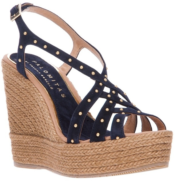 Paloma Barceló Palomitas By studded wedge sandal
