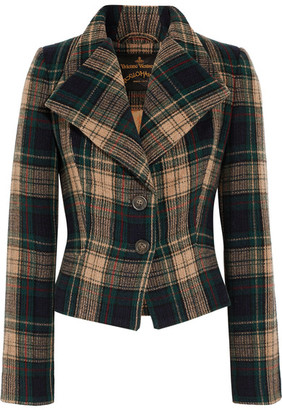 Vivienne Westwood Anglomania - Porta Tartan Wool-blend Jacket - Forest green