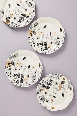 Ralph Lauren Wan Floral Vine Dinner Plates, Set of 4