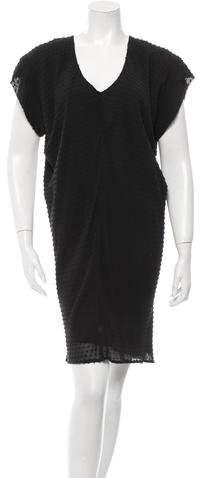 Balenciaga Balenciaga Textured Silk Smock Dress