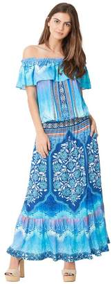 Hale Bob Lexi Satin Maxi Dress