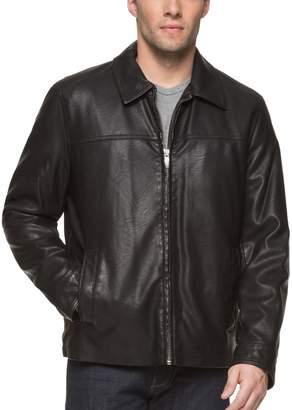 Dockers Men's James Faux-Leather Open-Bottom Jacket