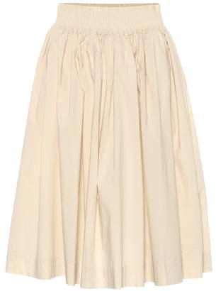 Woolrich W'S pleated cotton poplin skirt
