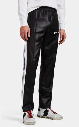 Palm Angels Men's Logo-Print Striped Leather Track Pants - Black