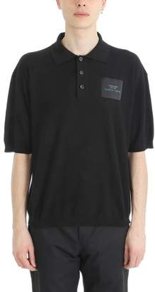 Raf Simons Black Cotton Polo