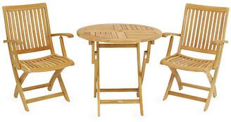 Valencia 3-Pc Teak Bistro Set - Hiteak Furniture