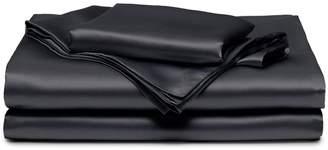 mikmax Silk king size duvet set - Charcoal Grey
