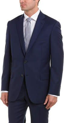 Hart Schaffner Marx New York Fit Wool Suit With Flat Front Pant
