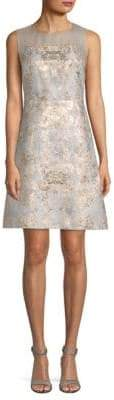 Elie Tahari Floral Brocade A-Line Dress
