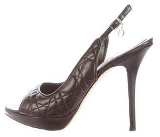 Christian Dior Cannage Slingback Pumps