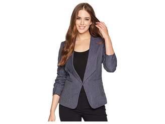 Tahari ASL Shawl Collar Ruched Sleeve Jacket Women's Coat