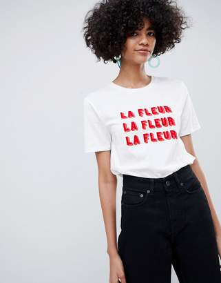 Selected Slogan Printed T-Shirt