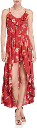 Angie Floral Maxi Walkthrough Dress