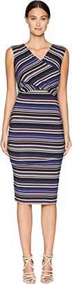 Nicole Miller Women's Flight Stripe Tuck Dress