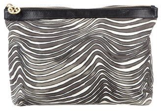 Tory Burch Tory Burch Wave Print Nylon Cosmetic Bag