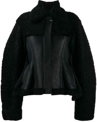 Nina Ricci faux-shearling panel jacket