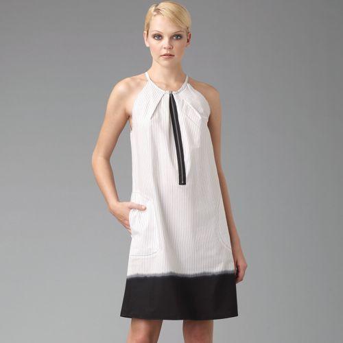 Hache Ombré Pinstripe Dress