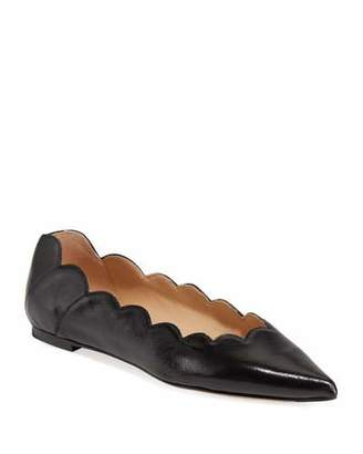 Chloé Lauren Scalloped Point-Toe Ballet Flats