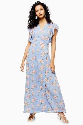 Topshop Yas Floral Print Wrap Maxi Dress by YAS