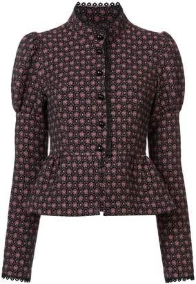 Anna Sui Grace's floral jacquard jacket